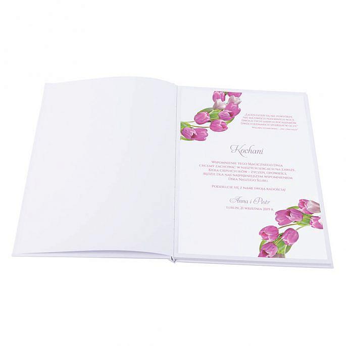 Księga gości na wpisy wesele papierowa książka karty