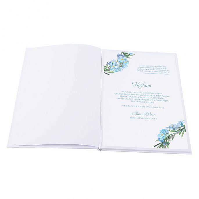 Księga gości na wpisy weselne papierowa książka a4 twarda okładka