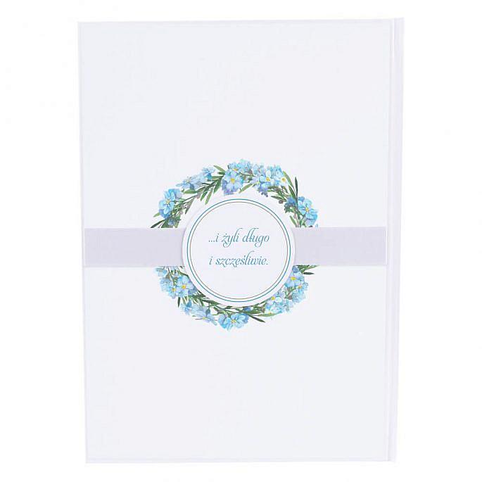 Księga gości na wpisy weselne papierowa książka a4
