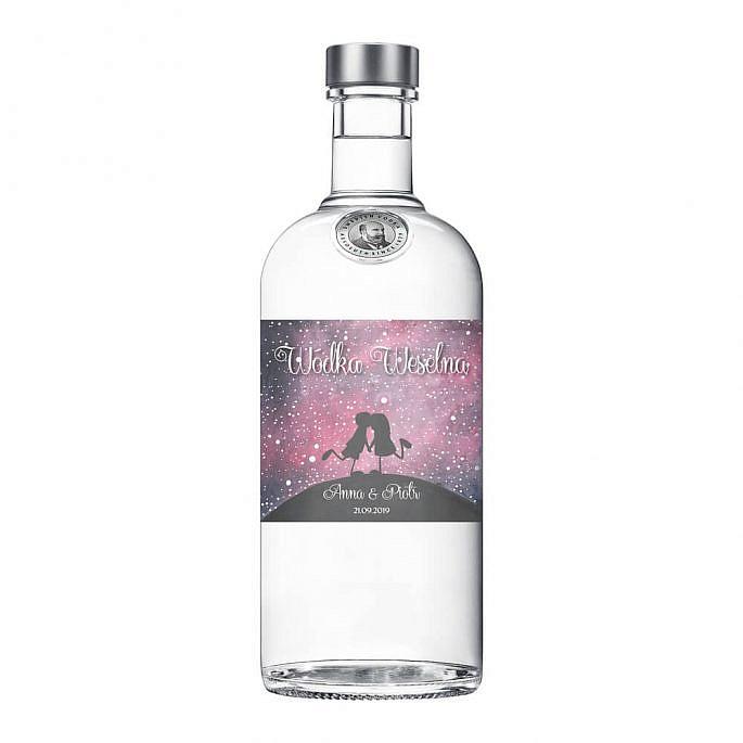 naklejka na butelkę alkohol weselny