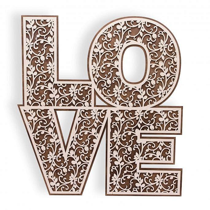 Dekoracja drewniana napis Love sala weselna