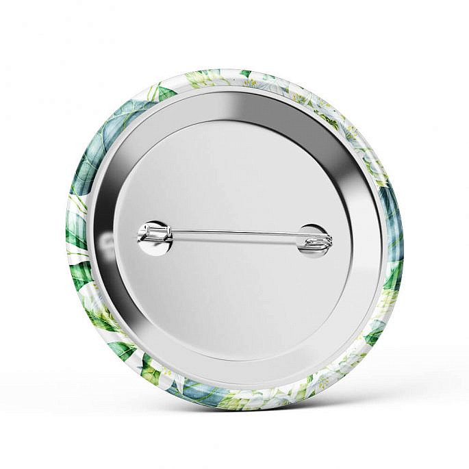 Metalowa okrągła przypinka dla gości agrafka