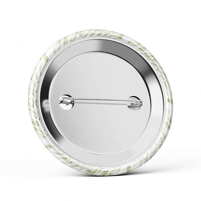 Metalowa okrągła przypinka dla gości agrafka wesele