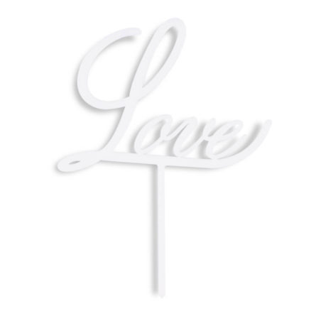 topper na tort napis love