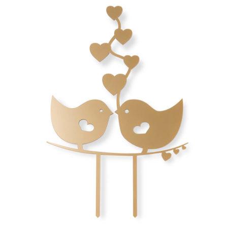 topper na tort weselny zakochane ptaszki love