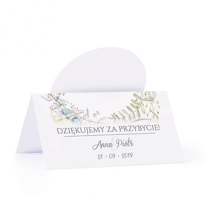 Winietka weselna na stół z motywem kwiatowym kolorowym