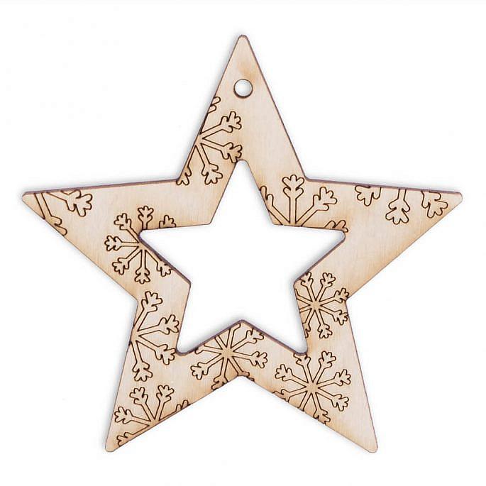 Świąteczna ozdoba choinkowa gwiazda