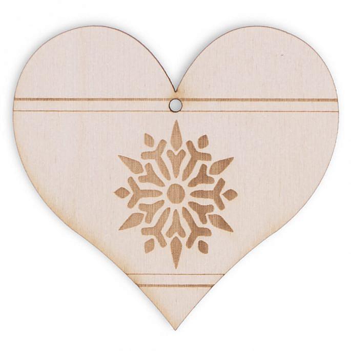 Drewniana ozdoba na choinkę serce