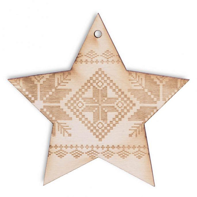 Bożo narodzeniowa ozdoba świąteczna z drewna
