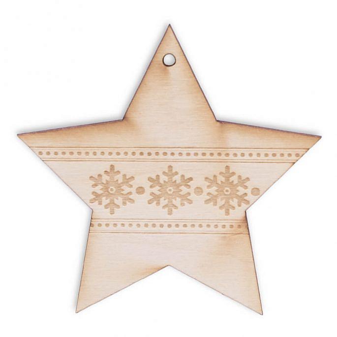 Gwiazdka zawieszka na choinkę na święta