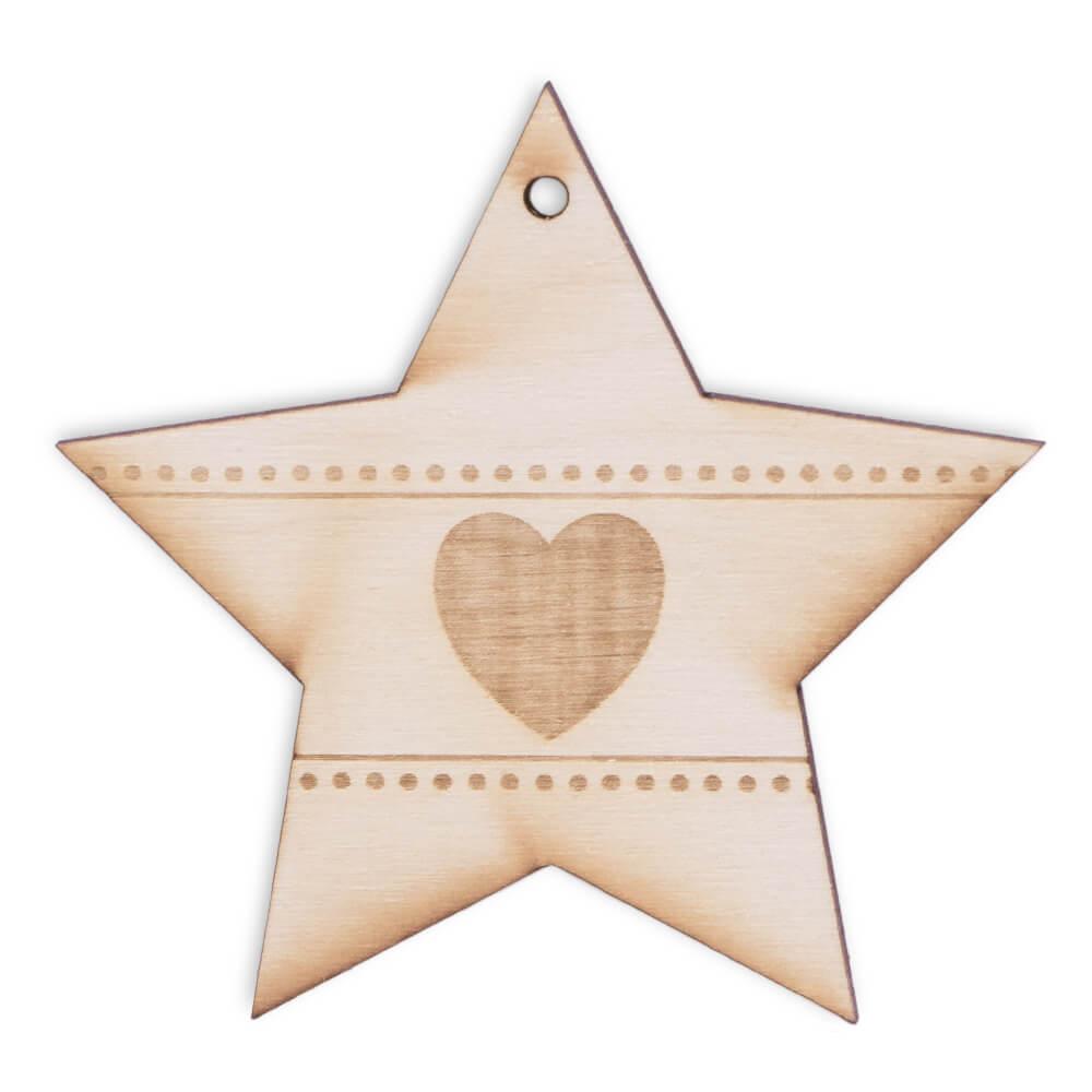 Zawieszka na choinkę w kształcie gwiazdy