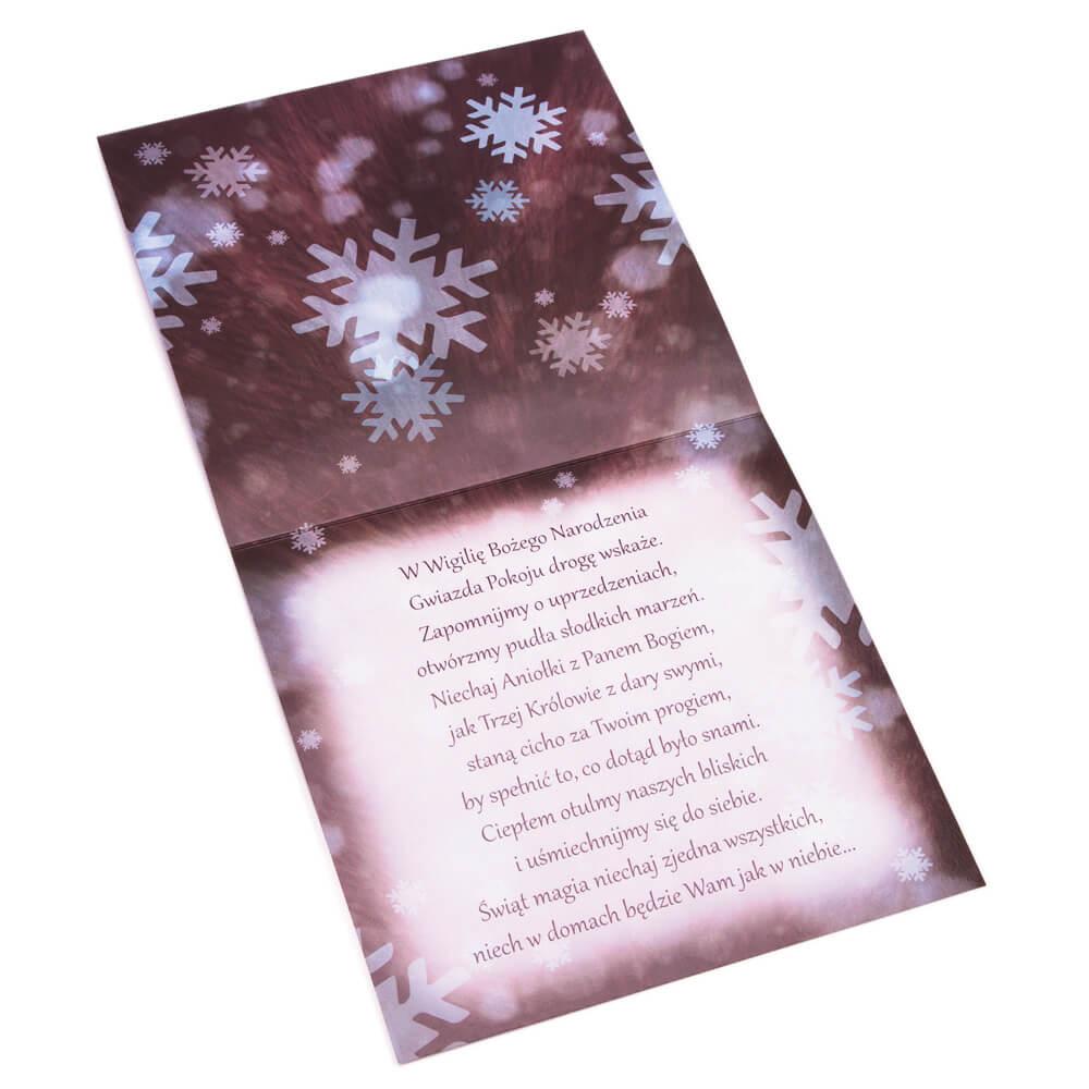 Kartka świąteczna z reniferem ze złotego papieru