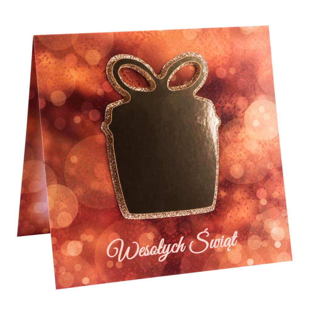 Kartka świąteczna ze złotym papierem