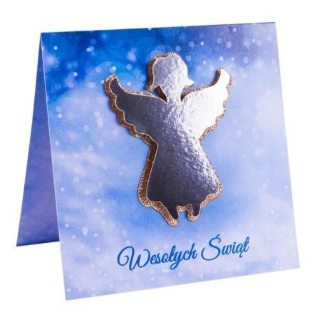 Biznesowa kartka świąteczna z aniołem