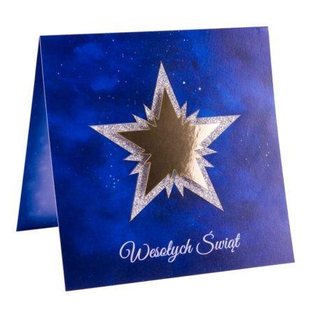 Świąteczna kartka boże narodzenie z gwiazdą