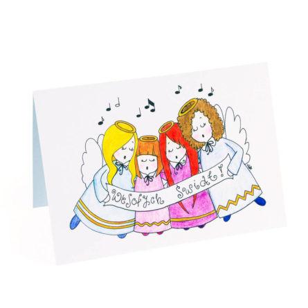 kartki świąteczne z ręcznie malowanym motywem