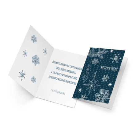 Kartka świąteczna z życzeniami od firmy
