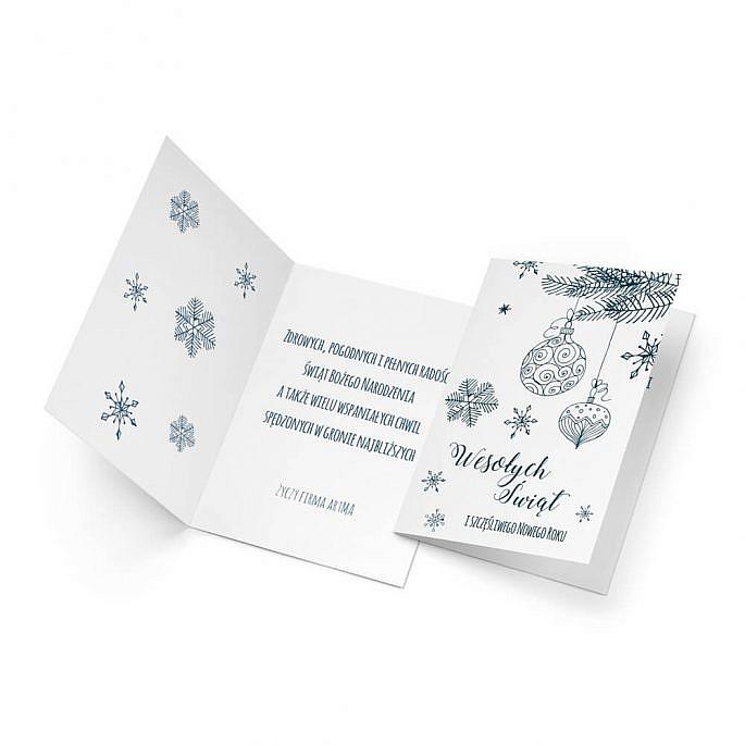 Kartka świąteczna z własnym tekstem