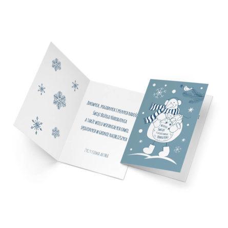 oryginalna kartka świąteczna z tekstem od firm