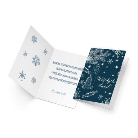 kartka świąteczna biznesowa z własnym tekstem