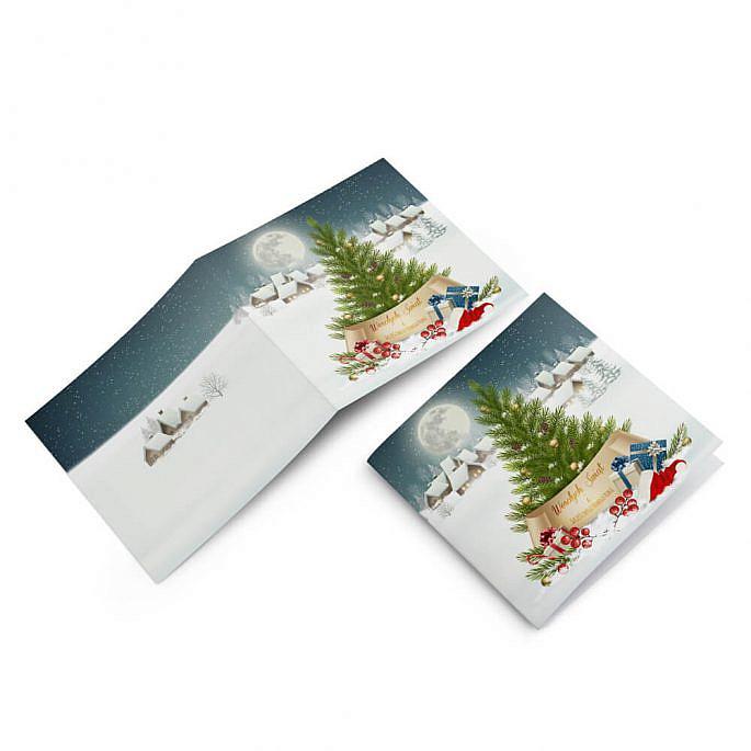 kartki świąteczne na boże narodzenie z choinką