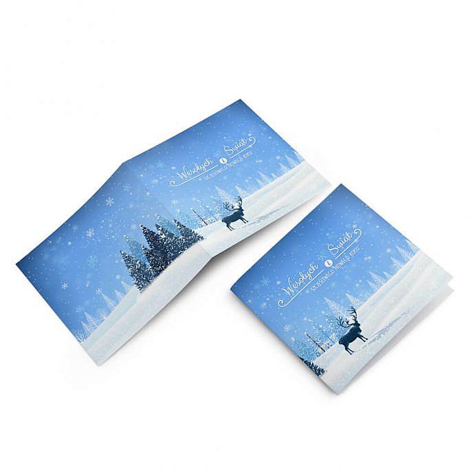 Kartka świąteczne z zimowym motywem własny projekt
