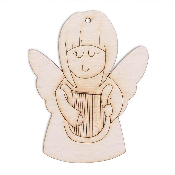 Drewniana ozdoba zawieszka na choinkę święta Boże Narodzenie aniołek