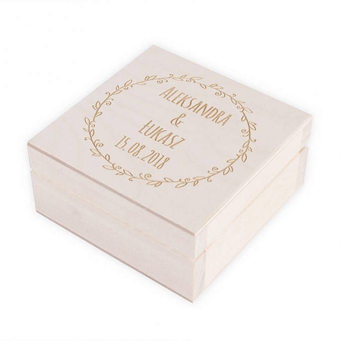 Pudełko na pendrive ślubne zdjęcia