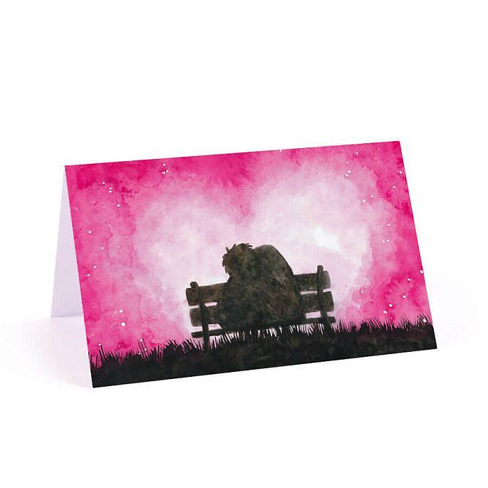 Różowa winietka na stół love zakochani