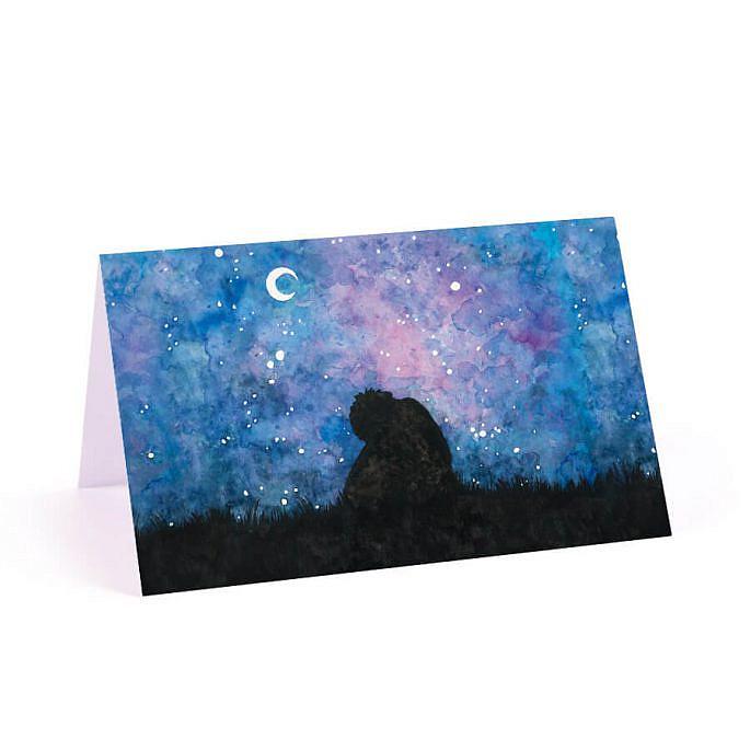 Winietka weselna gwiazdy księżyc para młoda miłość niebo