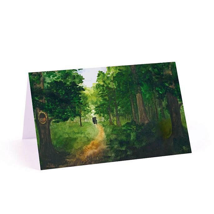 Winietka weselna papierowa na stół drzewa leśna scieżka