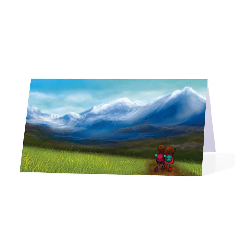 Winietka na stół weselny podróż w górach