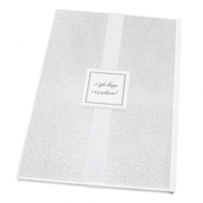 księga wpisów na wesele w stylu glamour