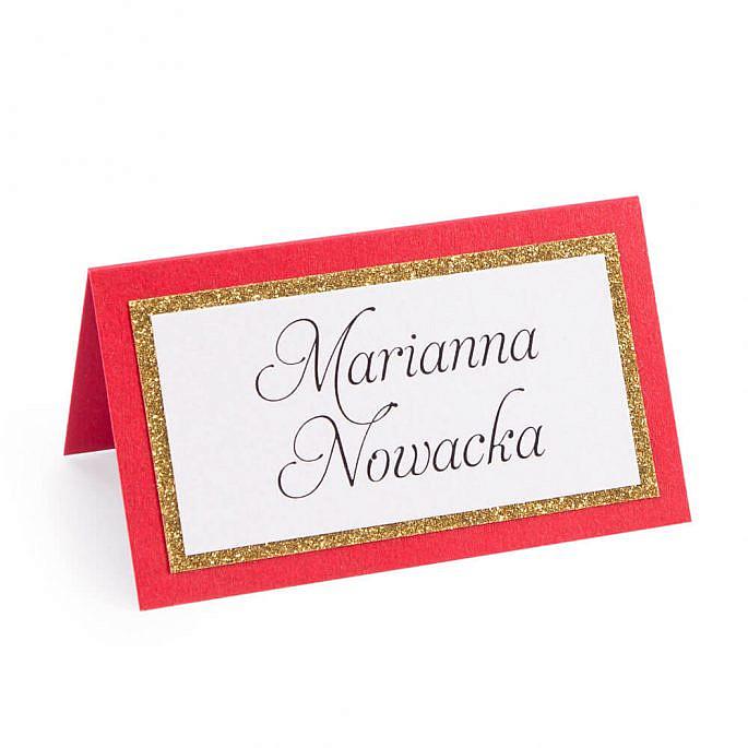 Winietka weselna w stylu glamour z brokatowym papierem