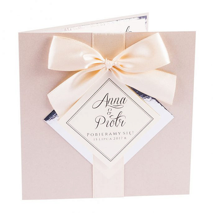 zaproszenia ślubne glamour złoty papier