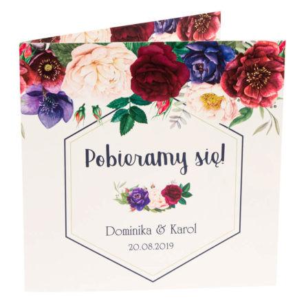 Zaproszenia ślubne zkwiatami