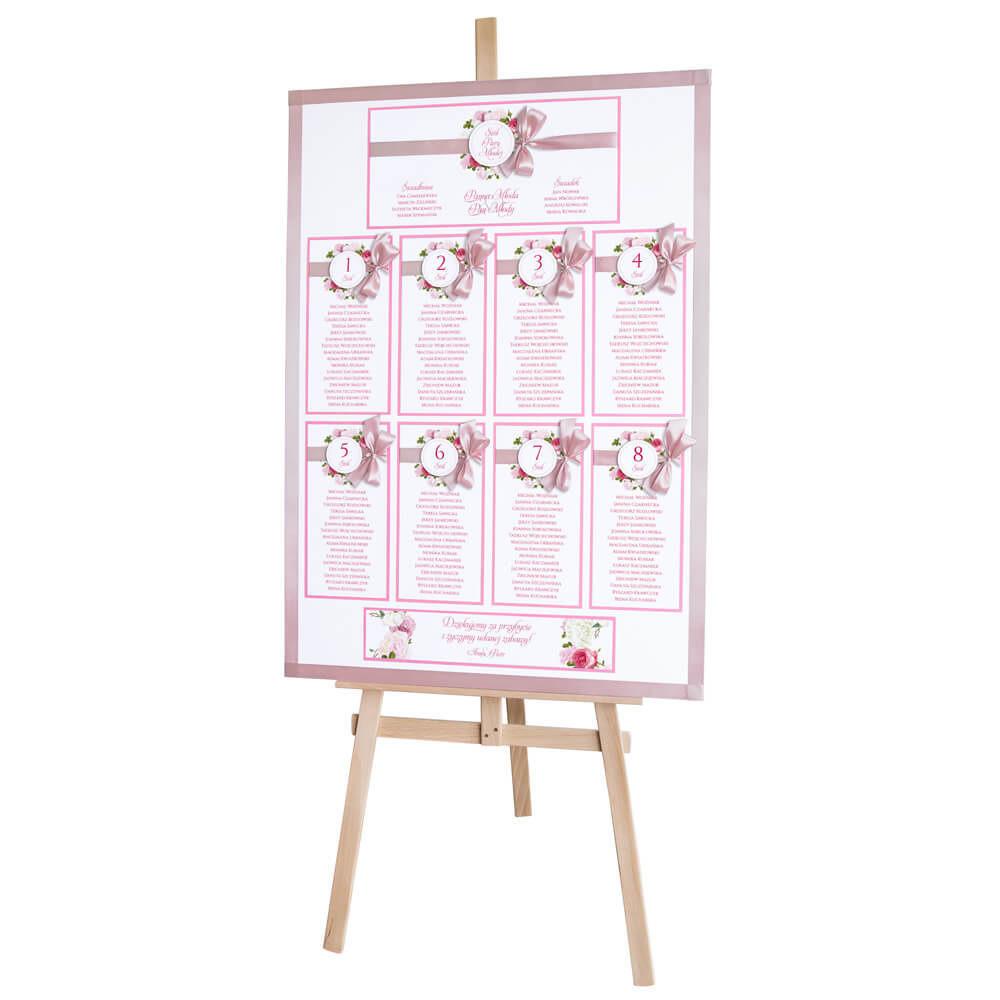 Plan stołów weselnych z kwiatami piwonii w11