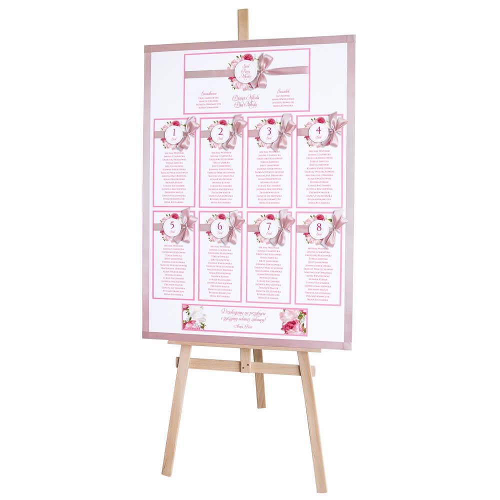 Plan stołów weselnych z kwiatami Piwonii w12