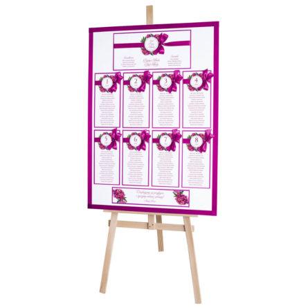 Plan stołów weselnych z kwiatami Piwonii w14