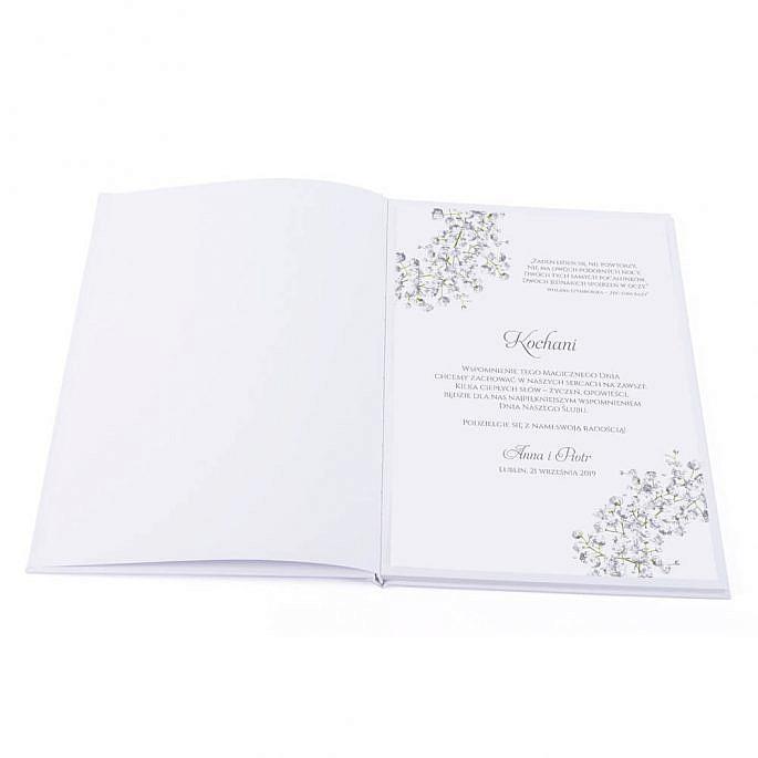 księga na wpisy z życzeniami od gości weselnych indywidualny projekt