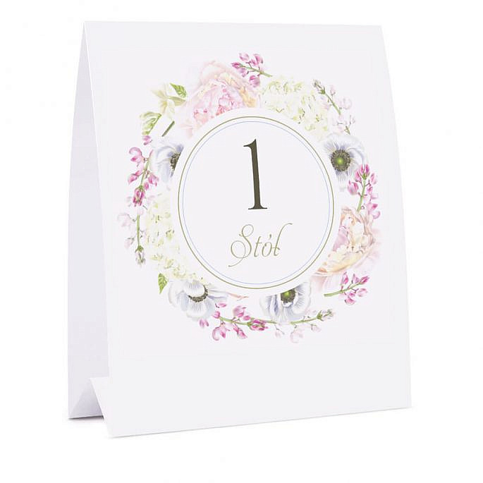 Numer na stół Florals w10