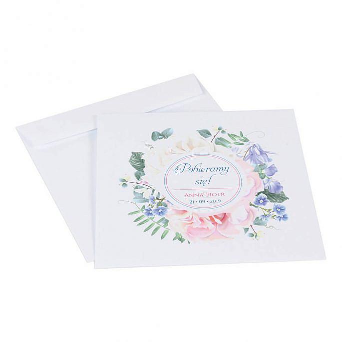 Zaproszenia ślubne Florals w11 koperta