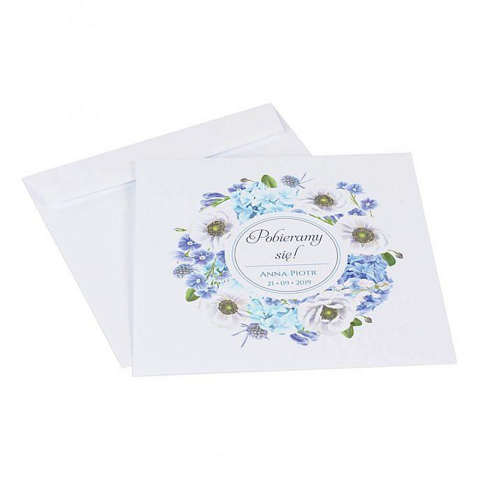 Zaproszenia ślubne Florals w12 koperta