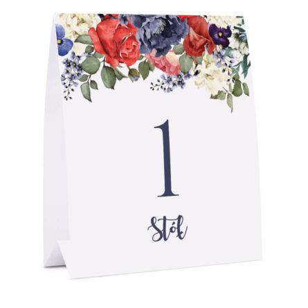 Numer na stół Flowery