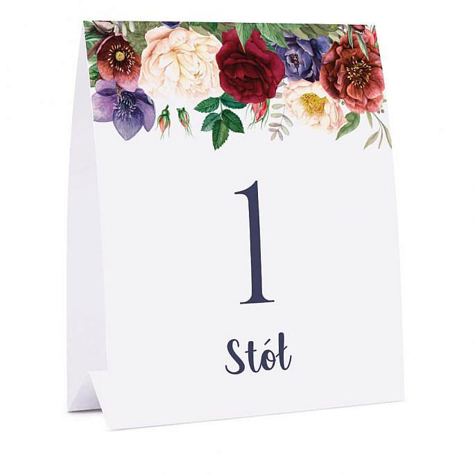 Numer na stół Flowery w2