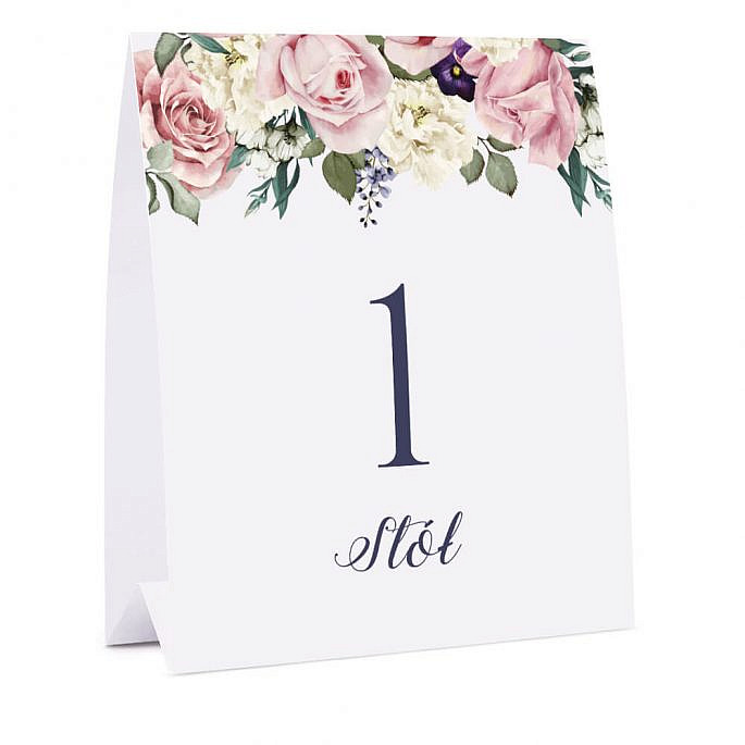 Numer na stół Flowery w3