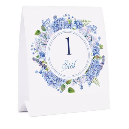 Numer na stół z kwiatami Hortensji w4