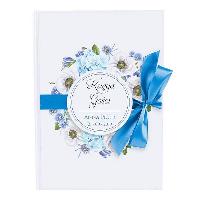 pamiątka ze ślubu księga gości w formie papierowej z personalizacją