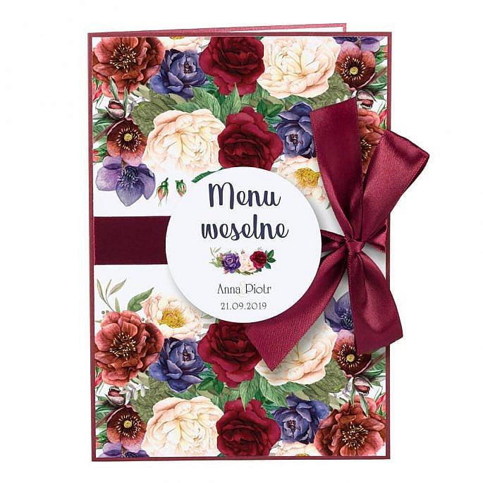 Menu weselne Flowery w2