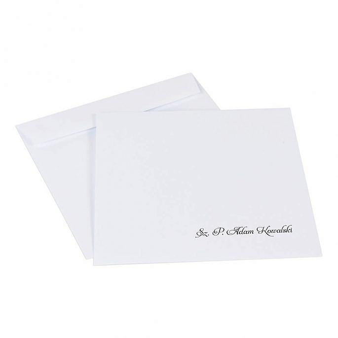koperta do zaproszeń ślubnych z personalizacją